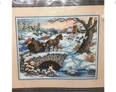 Counted Cross Stich Kit WINTRY RIDE by Sunset