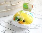 Small Pincushion Bright Yellow Bird Pincushion Pin Keep Kawaii Bird
