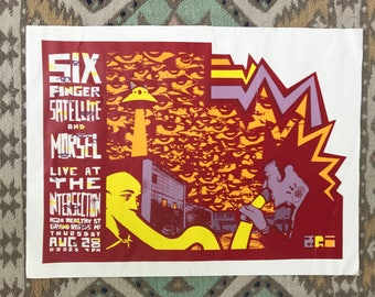 Six Finger Satellite Band Poster