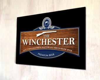 The Winchester Pub Beer label Sign Shaun of the dead movie sign A4 metal plaque picture home deco Kitchens