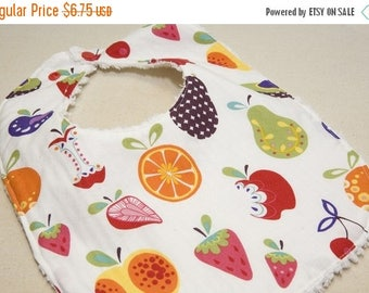On Sale Willow Orchard - Infant or Toddler Bib - Terry Cloth Backing - Reversible with ADJUSTABLE Snaps