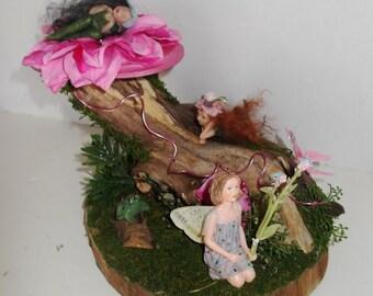 OOAK Fairy Garden Display, Fantasy