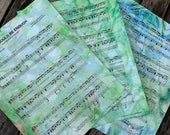 "Custom made for Zoe - Marbleized ""Hamilton"" sheet music"