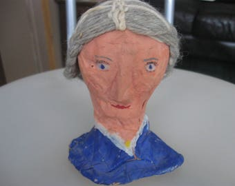 miss spindlesticks paper mache folk art fun lady