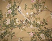 King flat  bed sheet  Birds On Branch