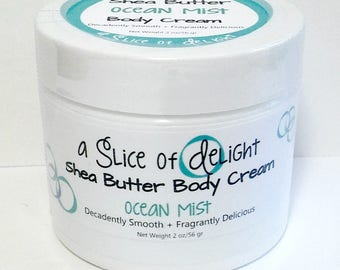 Ocean Mist Shea Butter Body Cream, Body Cream, Shea Butter Cream, Moisturizer, Gift for Her. Body Lotion, Body Cream,