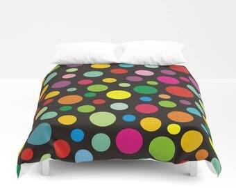 colorful polka dots bedding setbedding set full king