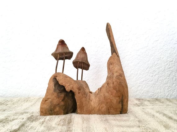 Vintage Driftwood Sculpture, Two Birds
