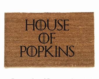 CUSTOM personalized House of Game of Thrones GOT outdoor fandom doormat
