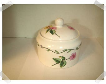 Stoneware Candy Dish with Lid/ International/ Home Decor/ Supplies*