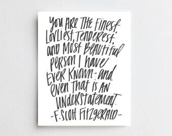 Fitzgerald Quote - ART PRINT
