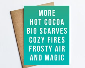 More Hot Cocoa Scarves - HOLIDAY NOTECARD