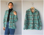 Vintage 49er Jacket • Vintage 1940s Jacket • Plaid Flannel Jacket • 40s Jacket  • 50s Jacket • 1950s Jacket - (medium/large)