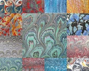 13  marbled paper, bookbinding,  cm 50 x 70, carta marmorizzata a mano- 113