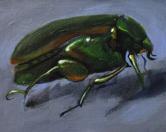 Junebug - original daily painting by Kellie Marian Hill
