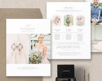 Photography Price List Template - Magazine Template for Photographers - Pricing Guide Templates - Bridal Guide - Design By Bittersweet