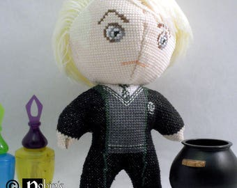 Draco Malfoy Doll 3D Cross Stitch Sewing Pattern PDF