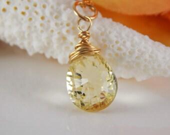LG Lemon Quartz Charm ~ Stone Charm ~ Add a Charm ~ Add a Dangle - AdoniaJewelry