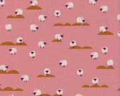 Cotton + Steel - Panorama Collection - Sheep in Coral