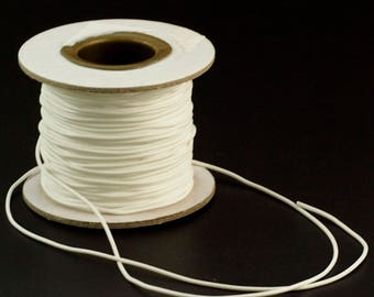 1mm Synthetic Rubber White Cord - By The Yard