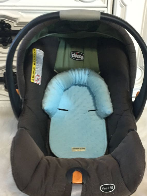 Car seat head support , Light Blue