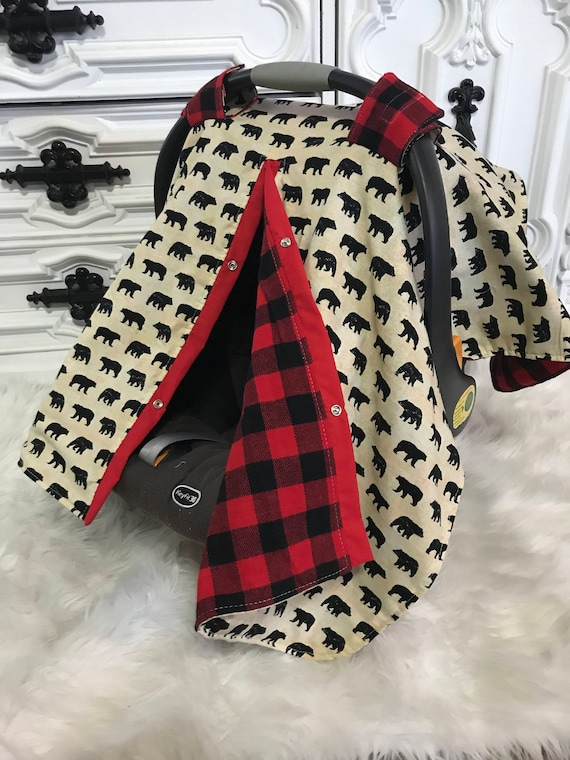 Bear car seat cover / nursing cover / carseat canopy / carseat cover / deer / arrow / boy