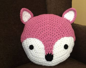 Pink Fox Pillow