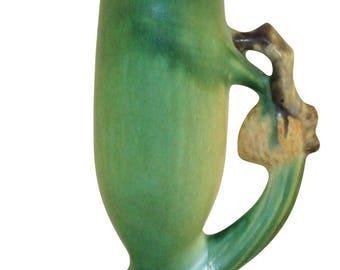 Roseville Pottery Pine Cone Green Vase 112-7