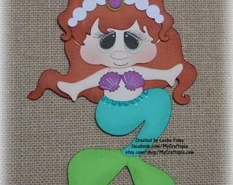 Little Mermaid  Disney Princess Premade Scrapbooking Embellishment Paper Piecing