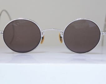 Rare Antique 1920's / 1930s White GOLD  FILLED Eyeglasses // Great Gatsby Elegance