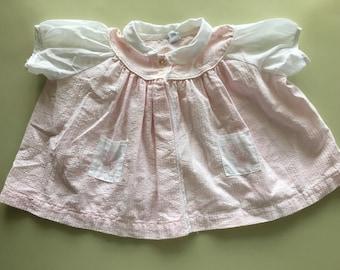 Girls vintage pastel pink giraffe diaper shirt