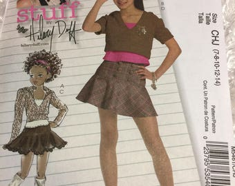 McCalls 5461 Stuff by Hilary Duff Girls Outfit Size 7 - 14 Uncut