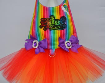 Dog Tutu Harness Dress - Pride - Love is Love - Gay Pride - Rainbow Dog Harness - Boy Dog Harness - LGBT - Pride Month - Parade