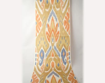 Uzbek ikat fabric by the yards, ikat for pillows and upholstery, ikat for home interiors, fully handmade silk cotton ikat