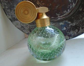 Marcel Franck Push Button Bubble Glass Perfume Bottle  Light Green