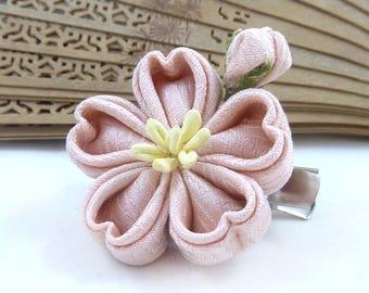 Sakura Rinzu Clip - Silk Flower Kanzashi Hair Clip