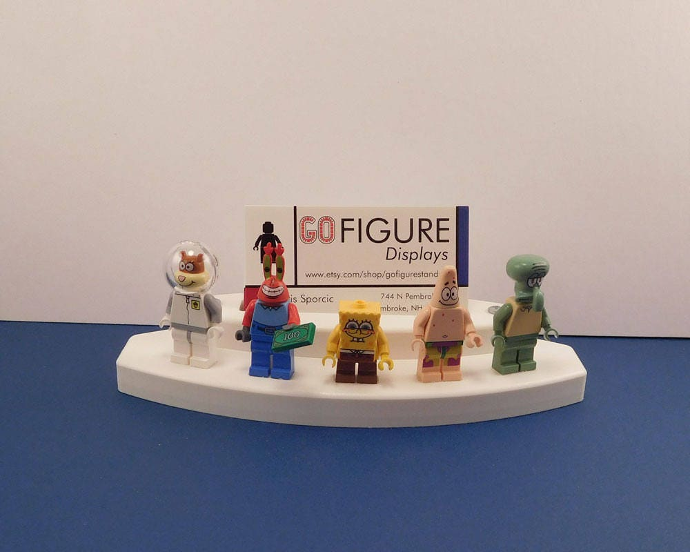 Business Card Holder, Lego Minifigure Stand, Recycled Poly-Lumber ...