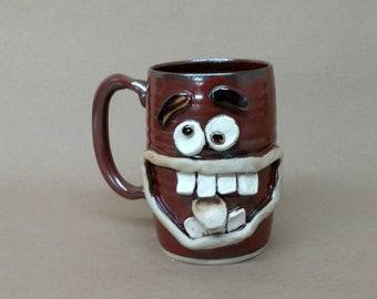 Funny Dieters Face Mug. Keto Diet Coffee Cup Mugs. Nelson Studio Stoneware Pottery. Big Over 20 Handmade Ug Chug Mug. Red Clay Pottery