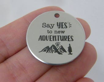 1 Say yes to new adventures stainless steel pendant JS1-31