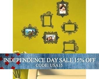 Independence Day Sale - Vintage Photo Frames - Vinyl Wall Sticker