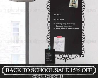 Decorative Chalkboard Wall Decal,  Elegant Style, Extra Large Chalkboard Sticker, Large Chalkboard Decal