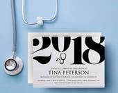 nursing invitations graduation, nursing invitation, nursing school, 2018, medical school, healthcare, doctor, stethoscope, announcement