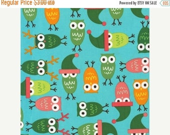 last call Jingle 2 by Ann Kelle and Robert Kaufman, Holiday Owls in Vintage 1/2 yd total