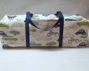 Carrying Case for the Cricut Maker / Cricut Explore Air 2 Case / Silhouette Cameo 3 Bag / Cricut Explore Air  / Retro Vehicles Duck Cloth