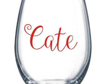 DIY Personalized Name Wine Glass Kit for Glasses Wedding Party * Decals * Bride * Bridal Party * Rehearsal Dinner * Holiday
