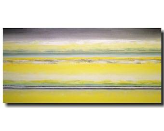 Large original painting -  wall art 24 X 48  JMJartstudio- Renewal-wall decor - Grey painting-Oil painting