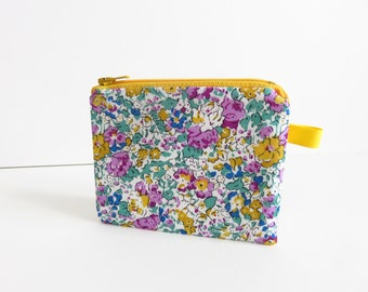 Liberty Lawn 'Claire Aude X' Zippered Coin Purse