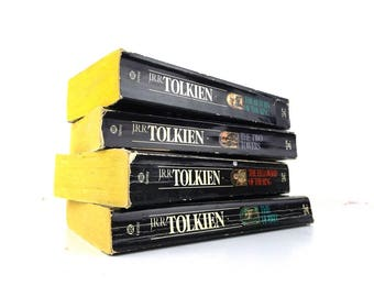 50th anniversary. lord of the rings. book set. paperback books. the hobbit. jrr tolkien. j.r.r. tolkien. fantasy book. ballantine books. old