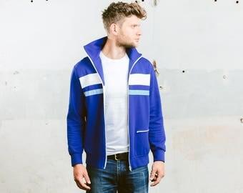 Lightweight Jacket . Mens Track Jacket Vintage 70s Bold Tracksuit Jacket Oldschool Coat Mens 80s Sportswear Outerwear . size Medium
