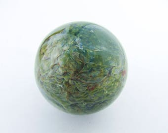 Hand Blown Glass Marble, Borosilicate Marble, Lampwork, Boro Art Glass, Third Anniversary Gift, Collectible,Galaxy Space Planet Marble